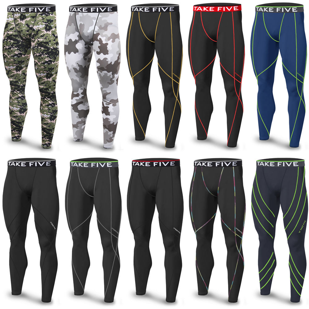 New Edition TakeFive Men's Skin Tights Compression Base Under Layer Motion Long Pants