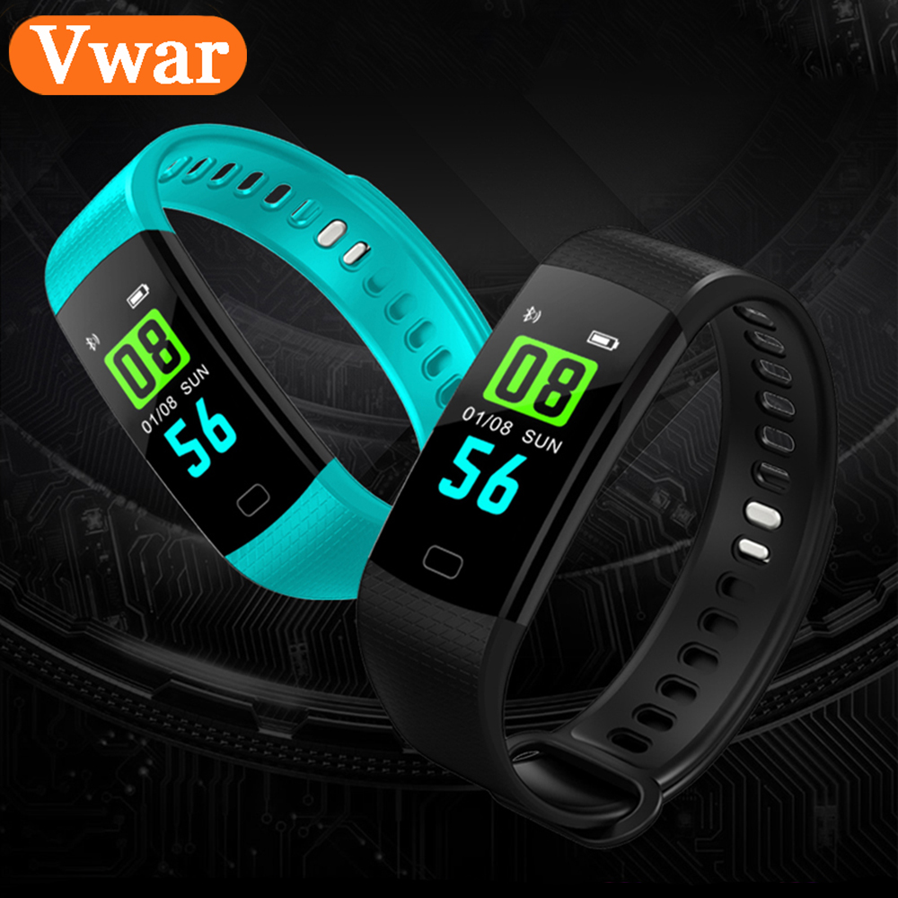 Y5 Smart Wristband Electronics Bracelet Color LCD Watch Activity APP Fitness Tracker Blood Pressure Heart Rate IP67 Waterproof