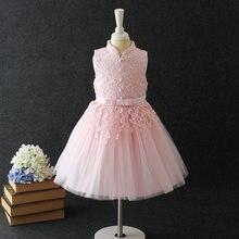 f7a145a794 Elegante Laço Cor de Rosa Vestido Da Menina de Aniversário Anjo Vestido Da  Menina Flor 2019 Roupa Das Meninas de 4 6 8 10 12 14 .