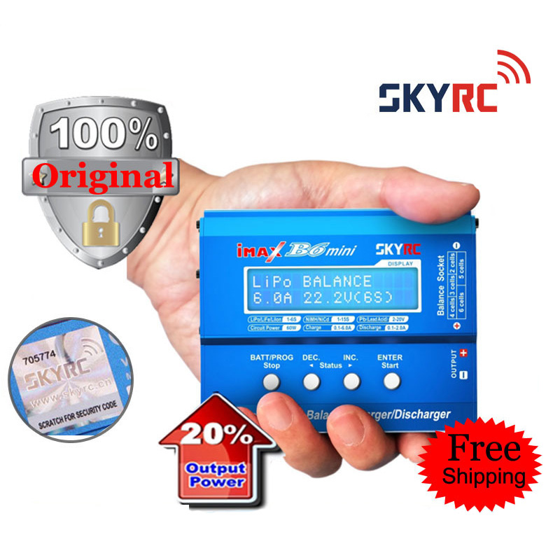 ФОТО Original SKYRC iMAX B6 Mini 60W Professional Balance Charger / Discharger for RC Battery Charging with Cooling Fan and PC link