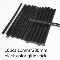 10pcs Black Color 11mm 180mm Hot Melt Glue 11mmglue Stick Adhesive Rod High Quality For Glue