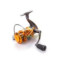 Free Shipping 13 1BB Spinning Fishing Reel CNC Machined Handle EVA Knob SJ Reels Yumoshi Golden