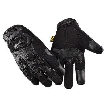 4e764095 Guantes de pantalla táctil Guantes de motocicleta de dedo completo de  verano deportes medio dedo Guantes de carreras Luva Motoqueiro Guantes Moto  ...