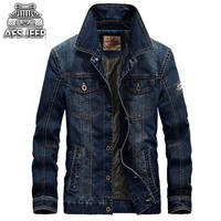Afs Jeep Fashion 2017 Men S Denim Jacket Men Military Jeans Jacket Top Quality Brand Male