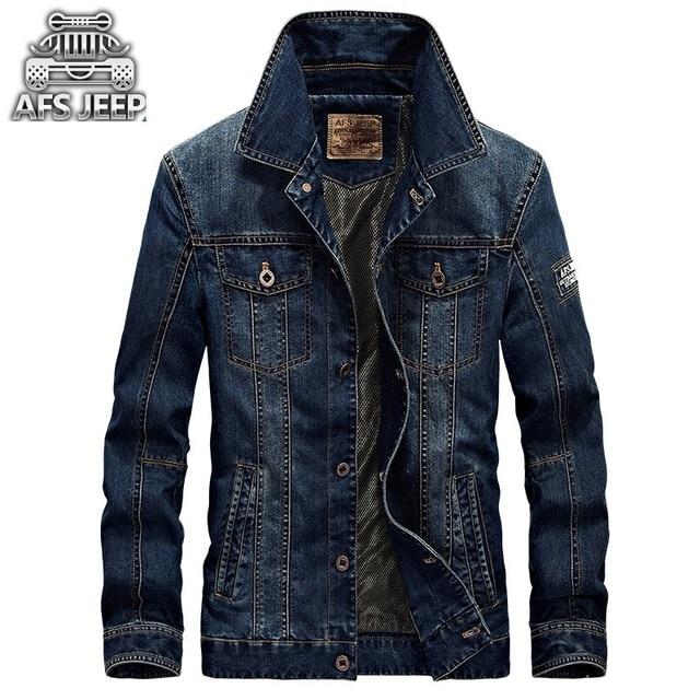 Afs Jep moda 2017 hombres Denim chaqueta para hombres