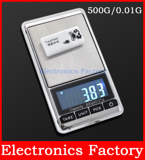Electronic LCD 500G 0.01g GRAM Digital Pocket Jewelry Weighting Scale Balance g/oz/ozt/dwt(tl)/ct/gn