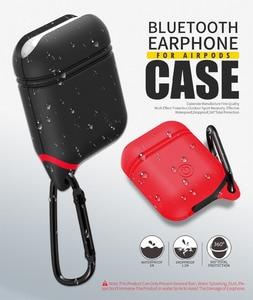 Image 1 - Waterdichte Oortelefoon Case Voor Airpods Shockproof Beschermhoes Headset Gevallen Voor Airpods Case Leuke Fluorescentie Tpu Siliconen