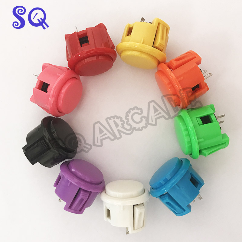 10 X New OEM 30mm Push Buttons Replace For Arcade Copy Sanwa Button Mame KOF Games Parts Of 10 Colors