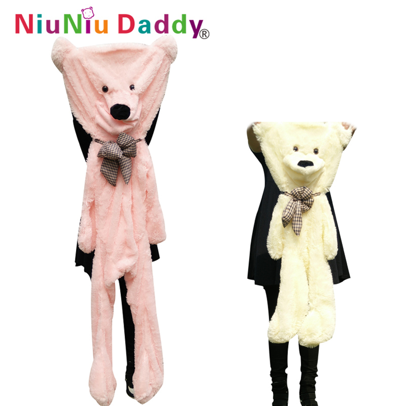 Niuniudaddy 60cm to 200cm giant bear skin toy plush Teddy Bear bearskin plush fabric plush toy 5 colors free shipping fancytrader biggest in the world pluch bear toys real jumbo 134 340cm huge giant plush stuffed bear 2 sizes ft90451