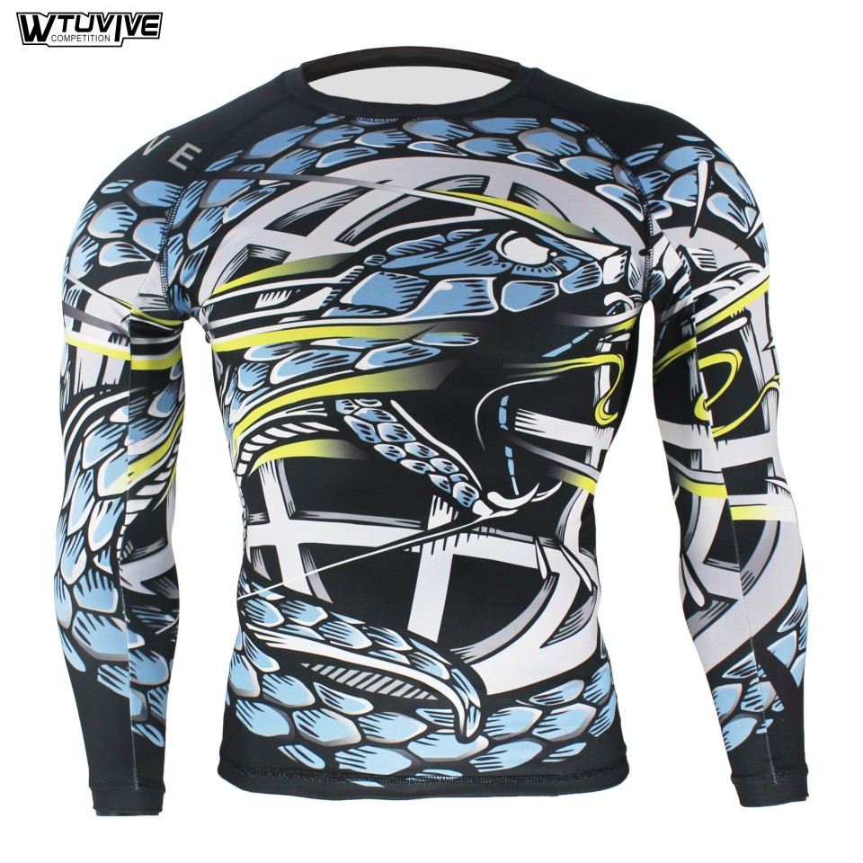 WTUVIVE Blue Viper Ferocious Tight Fitness Movement Elasticity Sweatshirt Boxing Jerseys Tiger Muay Thai Mma Boxing Suit Shorts