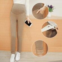 Plus Velvet European Elastic Maternity Pants Leggings Winter Maternity Clothes for Pregnant Women Pencil Pants Pregnantcy B376