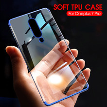 Transparent Silicone Case For Oneplus 6T 5T 5 7 Pro Soft TPU Cover Plating Bumper Protective Phone Capa One plus 7 Pro