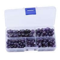 4mm 6mm 8mm 10mm Natural Amethyst Round Bead Combination DIY Jewelry Findings Making Supplies Wholesale