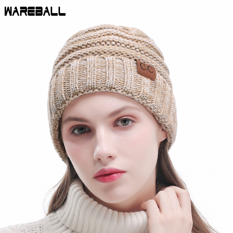 fa64923ec8f ... Casual Beanies Skullies Warm Stripes Knitted Gorros Bonnet Femme Autumn  Winter Hats Caps For Girl Women. Out Of Stock. 🔍 Previous