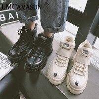 LMCAVASUN/Новинка; винтажные женские кроссовки; модная обувь для отдыха на платформе; Повседневная дышащая обувь с перекрестной шнуровкой; женс...