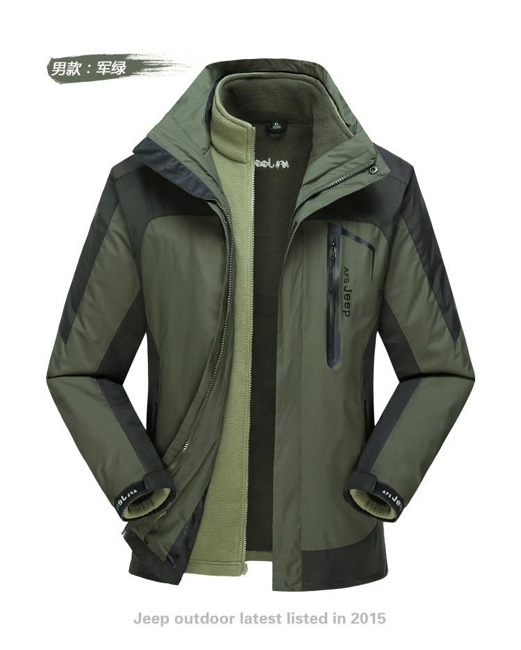 2017 Plus Size Softshell Outdoor Jacket  Men Autumn Winter Waterproof Windproof Hiking Jacket Fleece Hooded Mountain Wear Green men winter outdoor jacket autumn hiking