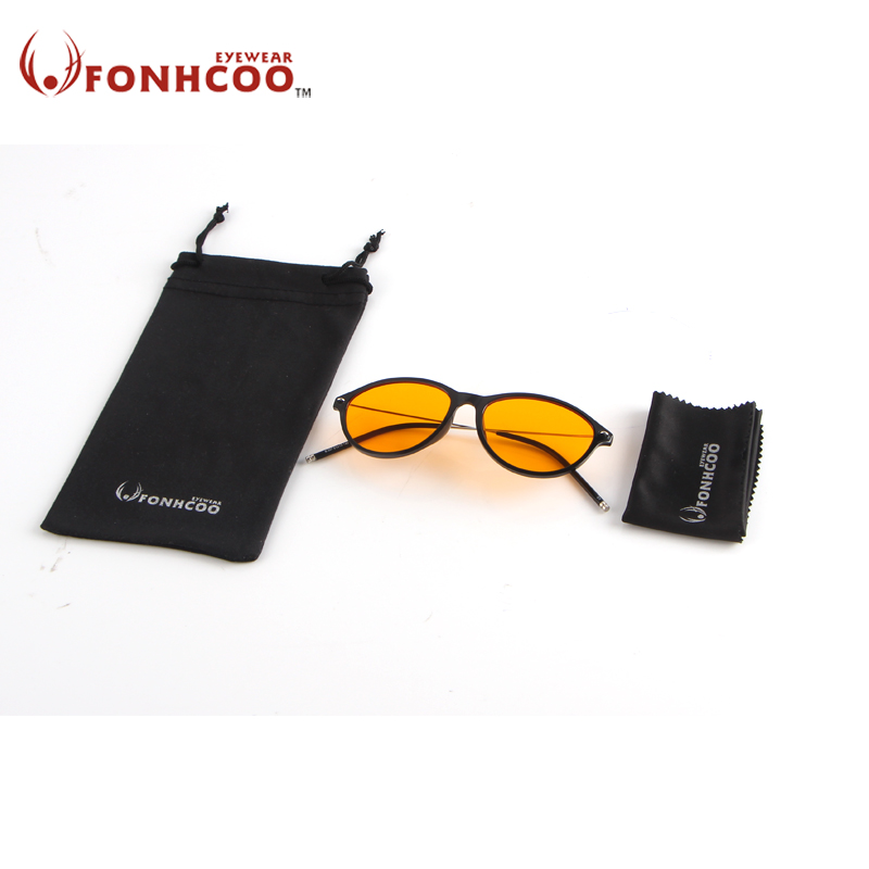 2018 FONHCOO New fashion Superfine glasses foot TR90 anti Blue ray radiation Effective computer goggle office gaming glasses