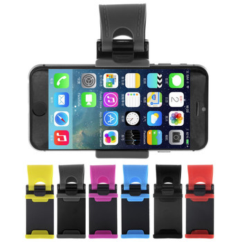 Universal Car Phone Holder Mount For Iphone 5 5s 6 6s Plus Stand Clip Grip Rubber Phone Holder For Samsung Xiaomi HTC 1