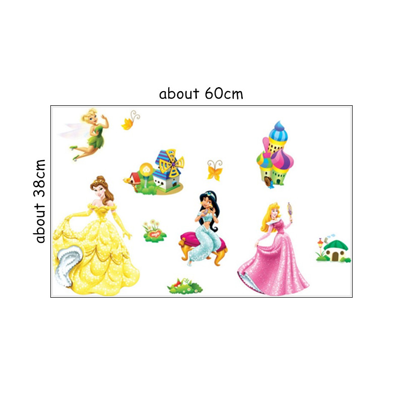 baby favorite fairy princess wall stickers snow white castle 3d vinyl decals for kids rooms decoration girl poster free shipping in wall stickers from home