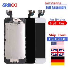 Display For iPhone 6 6G Plus LCD Touch Screen Tested Module Digitizer Assembly Full Set Complete LCD Screen Ship From US UK DE цены