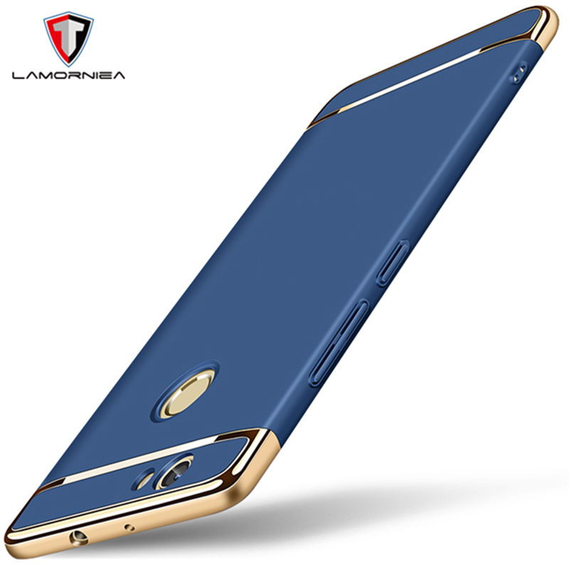 Lamorniea For Huawei Nova Case Premium 3 IN 1 Plating Cover For Huawei Nova Anti-Knock Smooth Hard Plastic Protective Phone Case