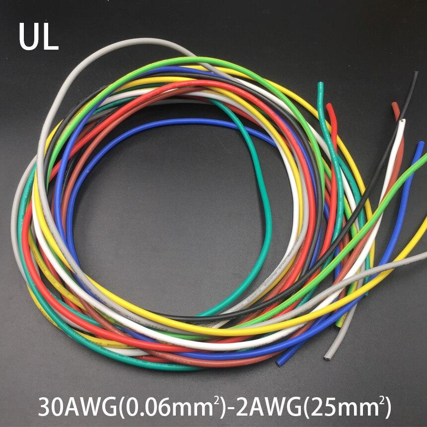 15AWG 1.5mm2 600V 200C 0,08 мм UL упаковка Луженая Медь силиконовая резина изоляция LED OK SR Многожильная оплетка провод кабель Шнур