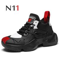 N11 Brand 2019 new men's retro casual shoes fashion wild cool breathable increased sneakers Zapatos Hombre men casual shoes hot
