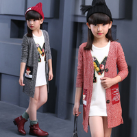2016 Autumn Children S Clothes Baby Long Sleeve Long Style Thin Girls Cardigan Sweaters For Girls