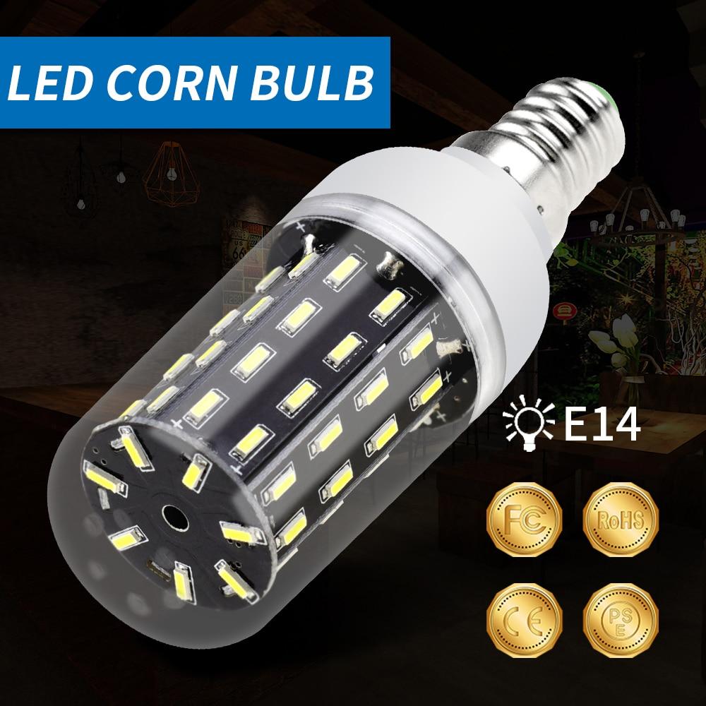 LED Corn Light Bulb E14 bombilla led E27 220V 38 55 78 88 140leds Lamp Energy saving Lights For home 4014SMD Ampoule Chandeliers
