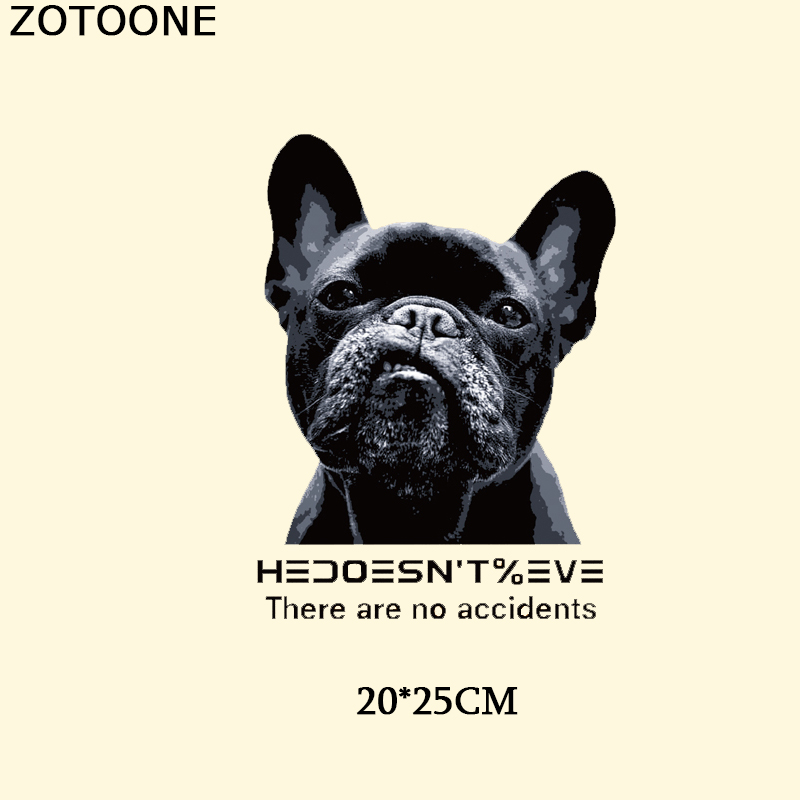 ZOTOONE Iron On Letters Patch Heat Transfers For Clothes T-shirt Dog Thermal Paper Applique Press D