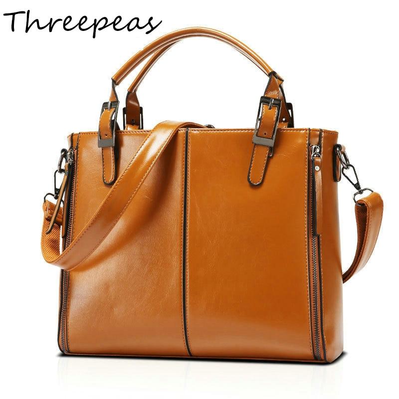 THREEPEAS brand designer women handbag female pu leather bags handbags ladies portable shoulder bag office ladies hobos bag tote цена