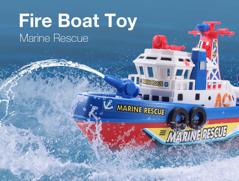 Electric Boat Children Marine Rescue Toys Boat Fire Boat Children Electric Toy (6)