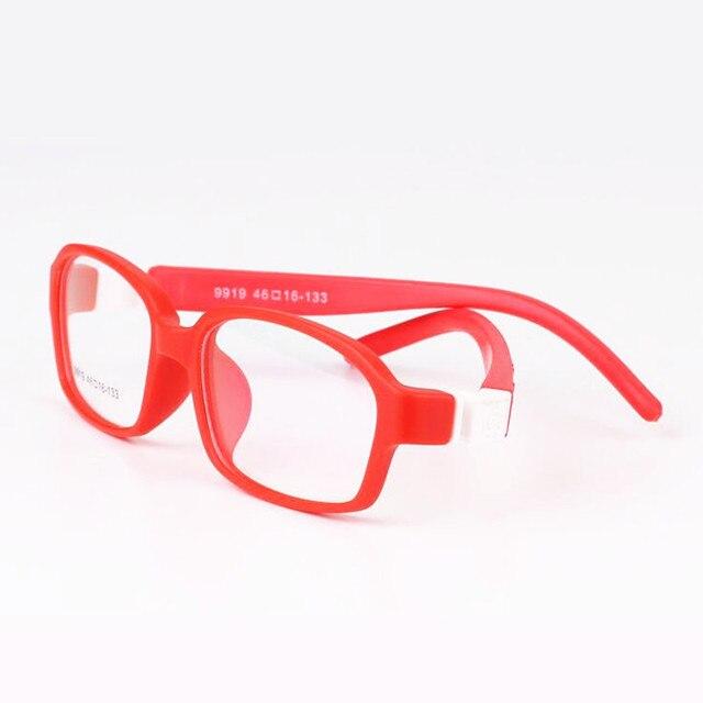 Мальчик девочка дети очки оптические frame очки кадр 9919 конфеты цвет супер-жесткие TR90 очки индивидуальные рецептурных линз