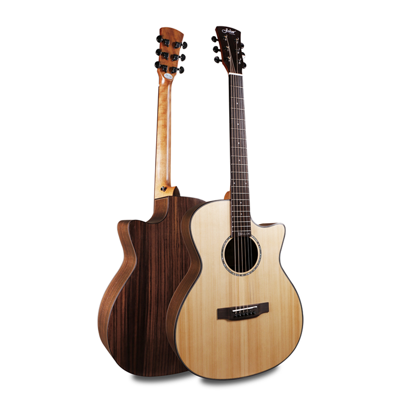 Joker Professionnel Coupe 40 Acoustique Guitares Avec Hard case, solide Table en Épicéa/Palissandre Corps guitarra eletrica Avec LCD Ramassage
