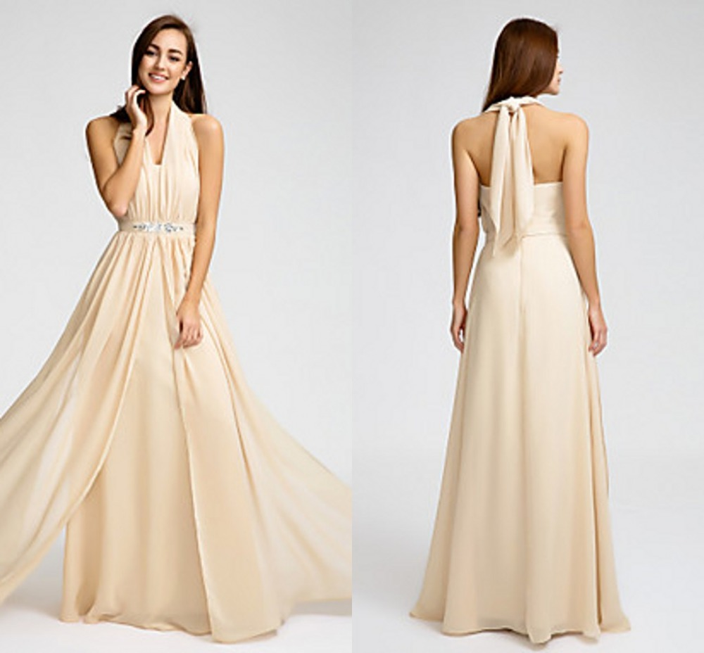 Cheap Wedding Dresses Size 6: 2016 Long Cheap Custom Made Bridesmaid Dresses Champagne