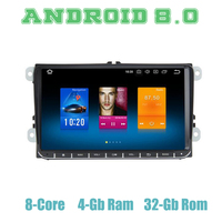Восьмиядерный Android gps 8,0 радио автомобиль VW Passat CC Sharan Tiguan Jetta гольф поло блок EOS с 4 + 32G Wi Fi 4g usb Auto стерео