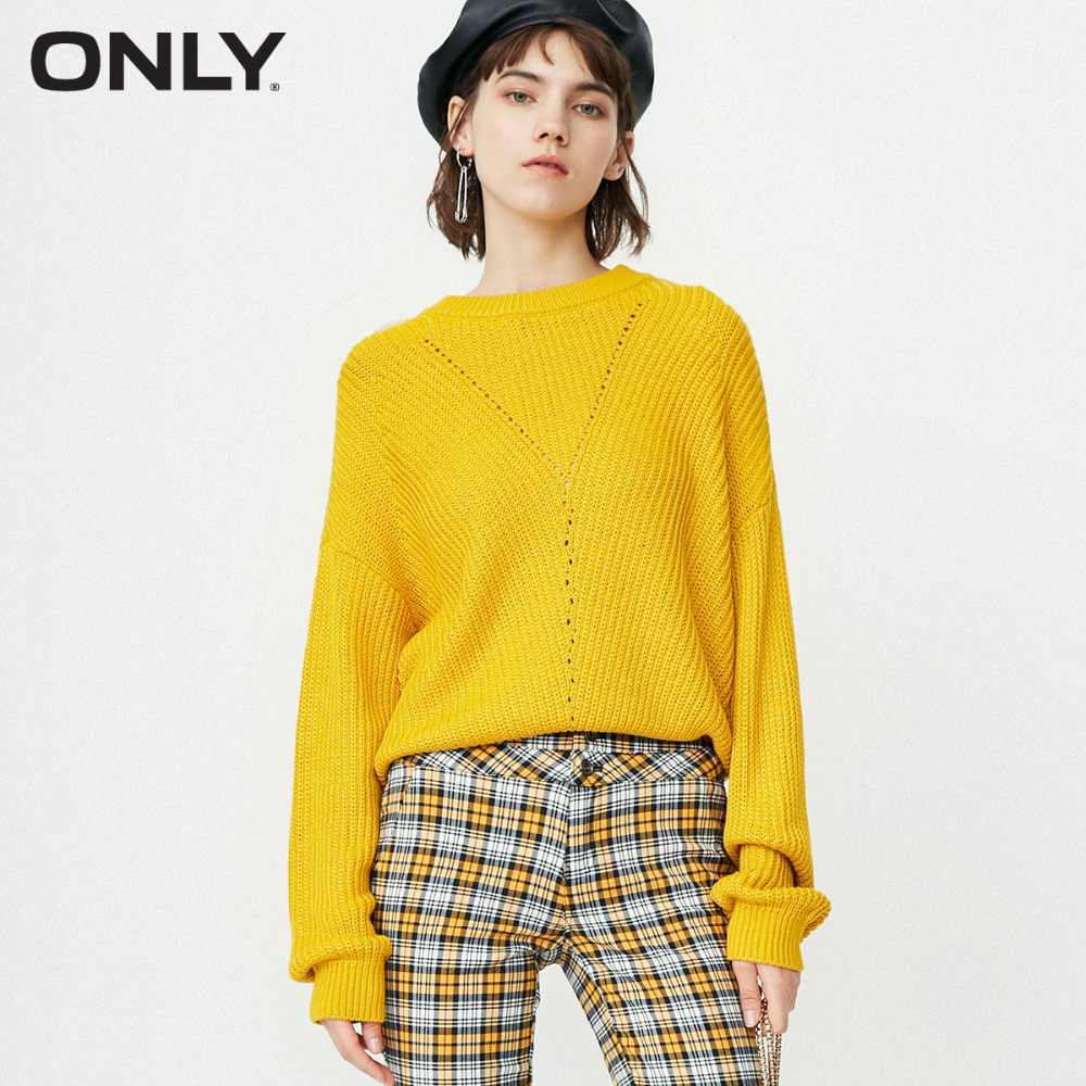 ONLY2019 Women's Autumn New Simple Loose Sweater | 118324544