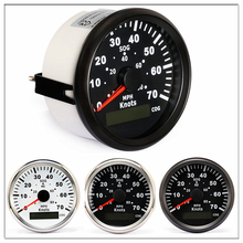 цены Marine GPS Speedometer 85mm Odometer 0-70 Knots 0-80 MPH For Boat Yacht Vessels With Trip Mileage COG SOG glow gauge