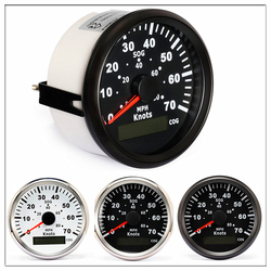 Marine GPS Speedometer 85mm Odometer 0-70 Knots 0-80 MPH For Boat Yacht Vessels With Trip Mileage COG SOG glow gauge