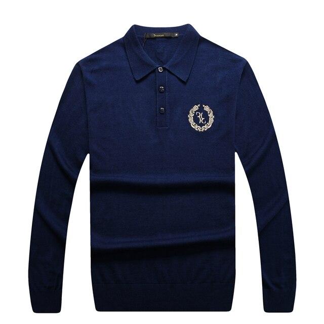 Миллиардер Итальянский Couture свитер 2016 запуск коммерческих handsdome повседневная вышитые отличное ткань бесплатная доставка