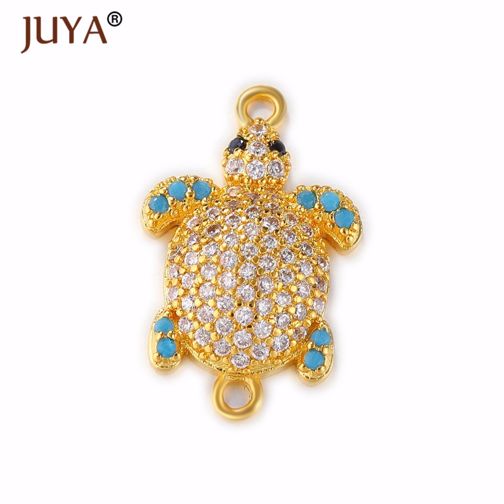 jewelry making supplies gold silver rose gold luxury zircon rhinestone  turtle connector for jewelry making sea turtle pendants-in Jewelry Findings  ... 20b5395ecf8a