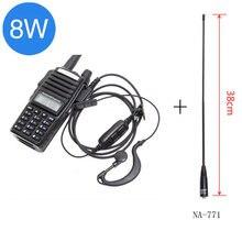 "BaoFeng UV 82 8 w ווקי טוקי גבוהה כוח חזק UV82 8 ואט 10 ק""מ ארוך טווח pofung 8W uv9r חם cb שתי דרך רדיו ציד"