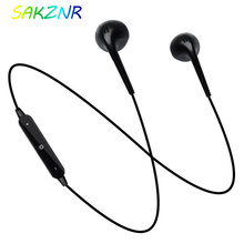 S6 ספורט Neckband אלחוטי Bluetooth אוזניות אוזניות עם מיקרופון באוזן אוזניות עבור iPhone Xiaomi HUawei