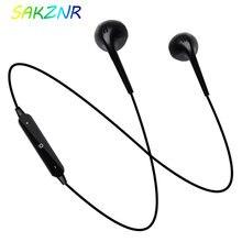 S6 deporte banda para el cuello auriculares inalámbricos Bluetooth con micrófono en la oreja auriculares para iPhone Xiaomi HUawei