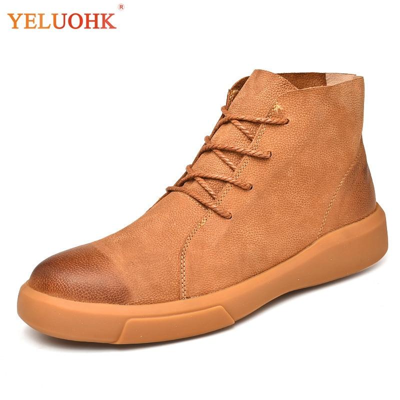 38-47 Winter Boots Men Big Size Men Shoes Winter Plush Warm Men Boots High Quality big size winter warm leisure shoes
