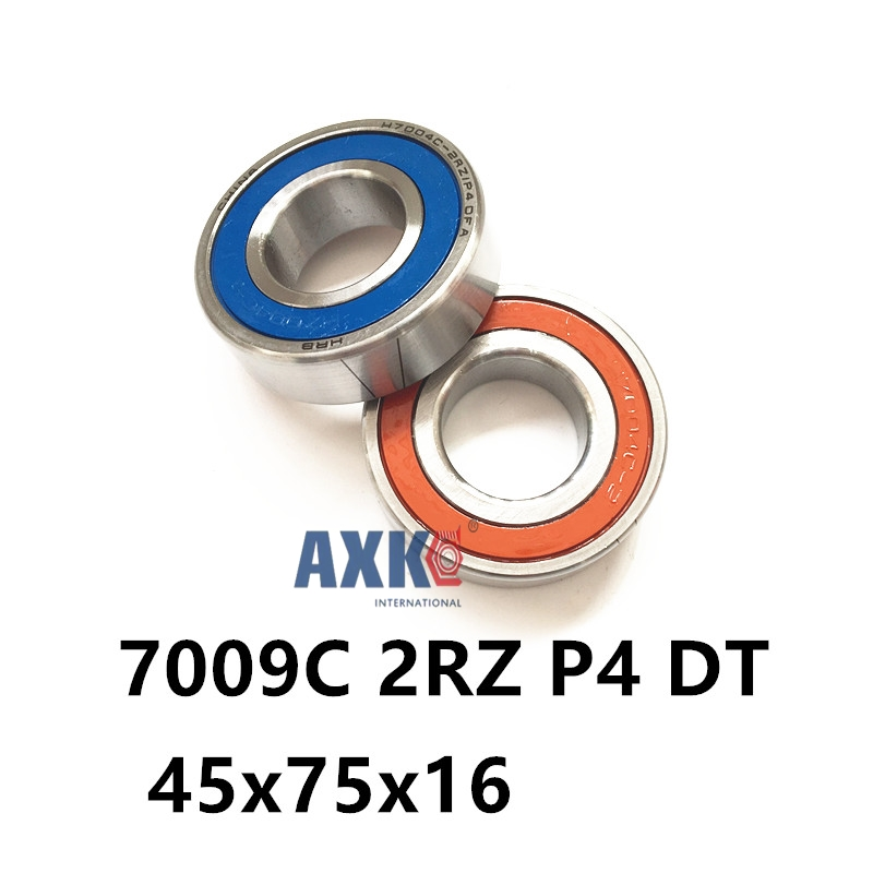 1 Pair AXK  7009 7009C 2RZ P4 DT 45x75x16 45x75x32 Sealed Angular Contact Bearings Speed Spindle Bearings CNC ABEC-7 1 pair mochu 7005 7005c 2rz p4 dt 25x47x12 25x47x24 sealed angular contact bearings speed spindle bearings cnc abec 7