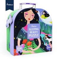 Mideer Children Large Paper Puzzle 104 Pcs Sleeping Beauty Puzzle Baby Intelligence Development Educational Toys Gift Box