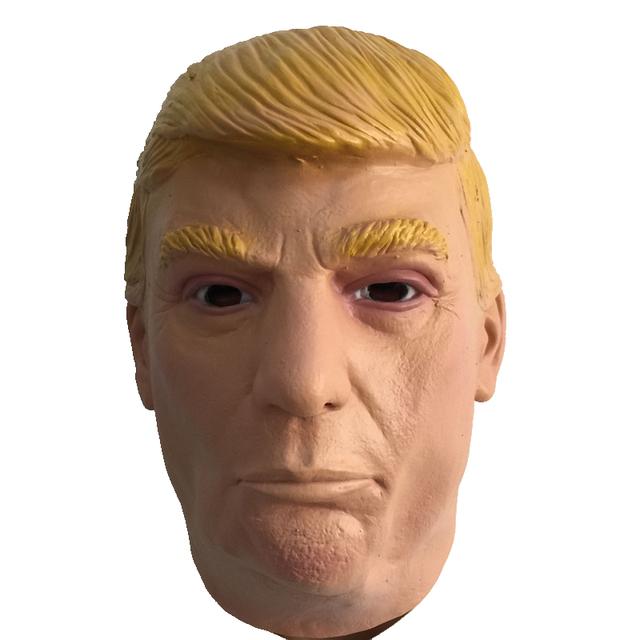 Máscara de Cabeza De Látex de Donald Trump 2016 NOSOTROS Elección Famosa Celebridad Trump Cosply Vestuario Cabeza Llena Mascarada Máscaras De Goma