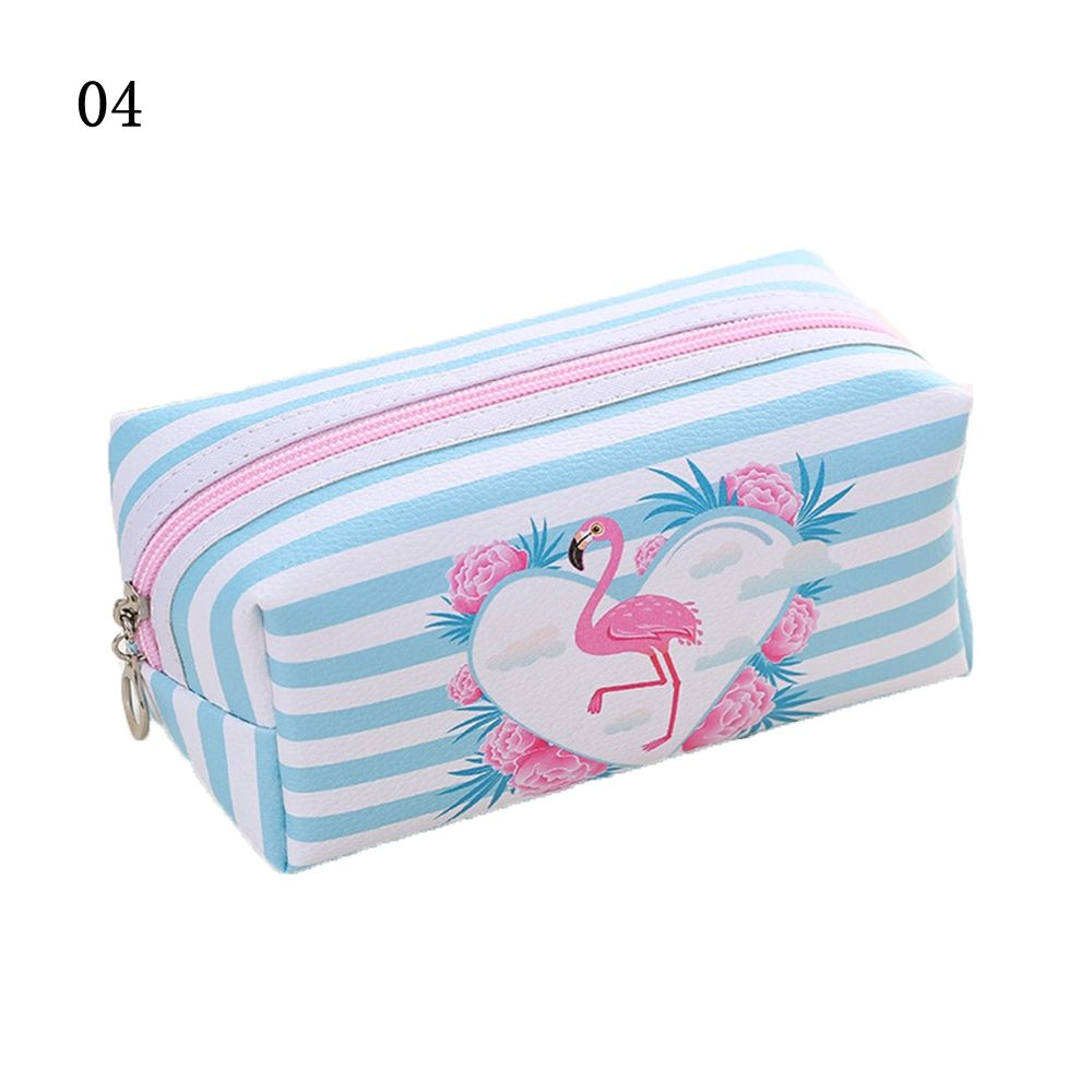 Cartoon Flamingo Cosmetic Bag Fashion Women Lazy Makeup Pouch Zipper Pouch Toiletry Organizer Handbag Holder Makeup Bag