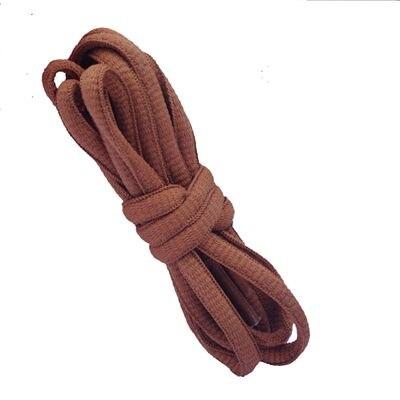 """100 см/3"""" овальные плоские шнурки Шнурки кроссовок 24 цветов для выбора - Цвет: No 25 rust brown"""